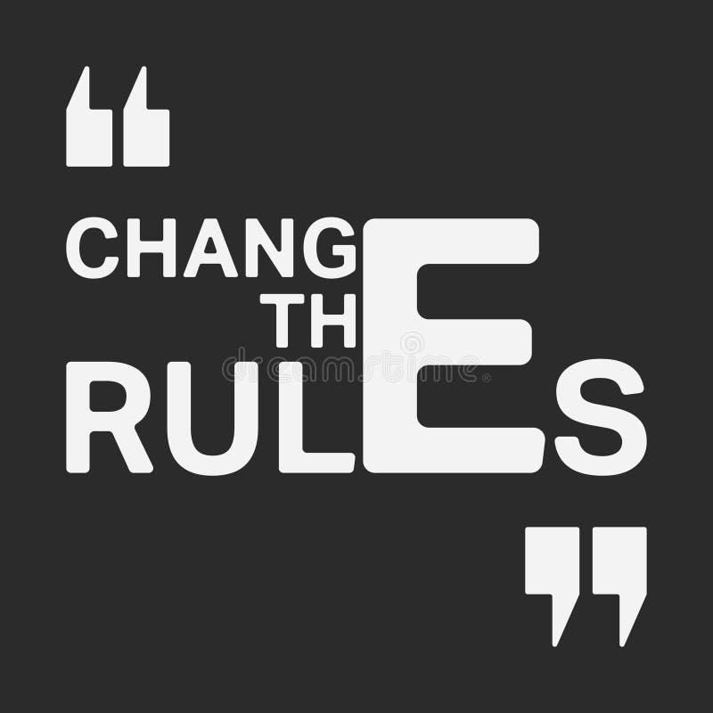 改变规则T恤杉印刷品邮票 库存例证
