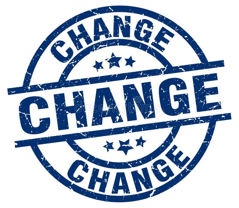 改变邮票 向量例证