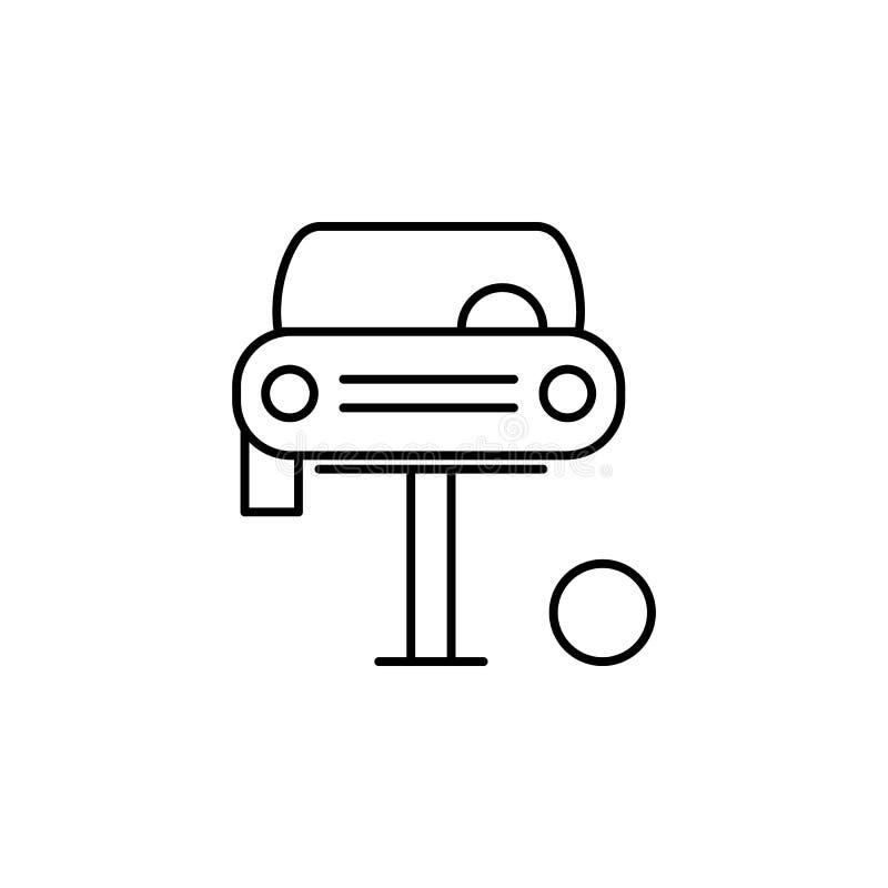 改变,汽车,轮胎概述象 能为网,商标,流动应用程序,UI,UX使用 皇族释放例证