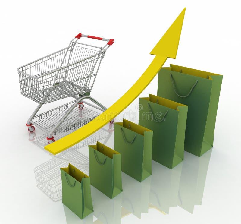 改善企业图表获得增长收入增量的商品经济存在销售额销售额服务 向量例证