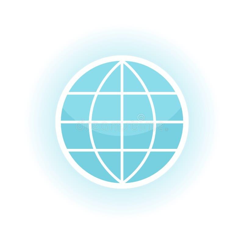 更改地球图标向量 皇族释放例证