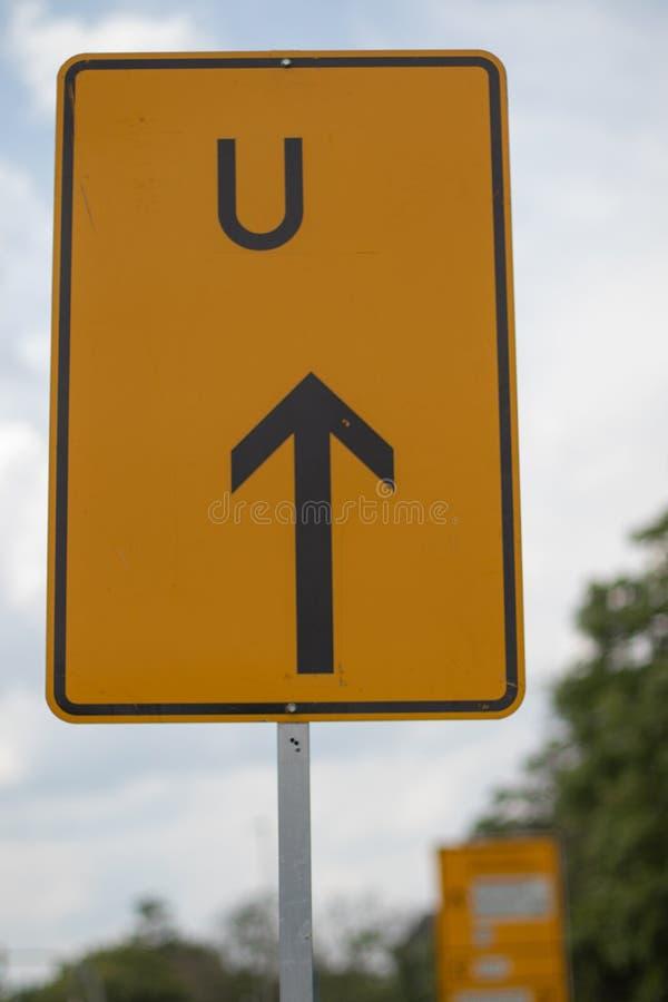 改标志方向在德国,黄色 免版税库存图片