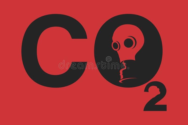 更改气候二氧化碳符号 皇族释放例证