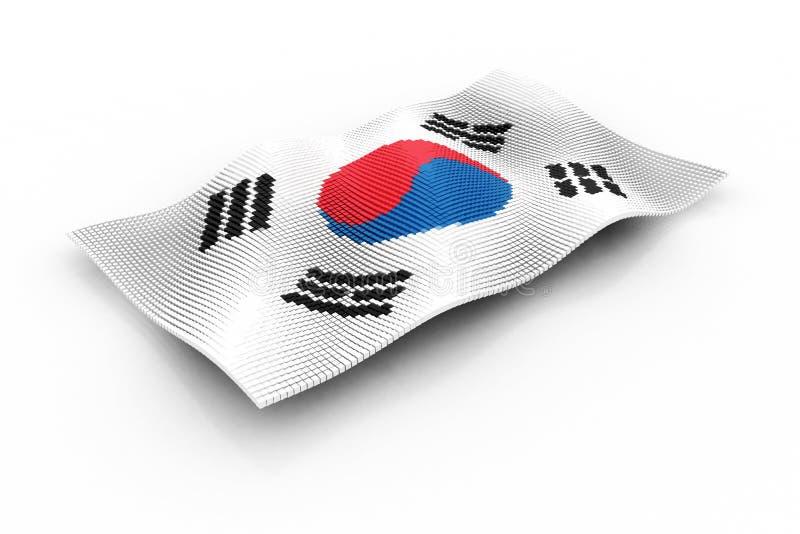 30更改的卫兵7月韩国国王好朋友s汉城南部 向量例证