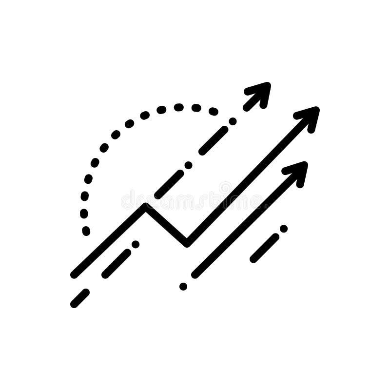 改良、更正和下裂的黑线象 向量例证
