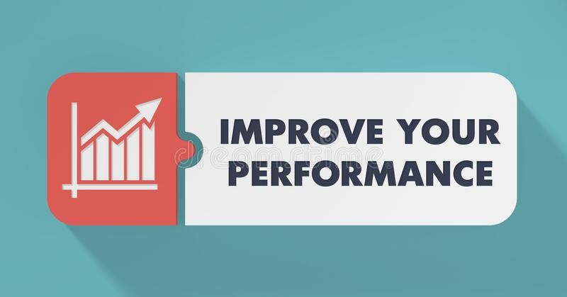改进您的在平的设计的表现概念。 库存例证