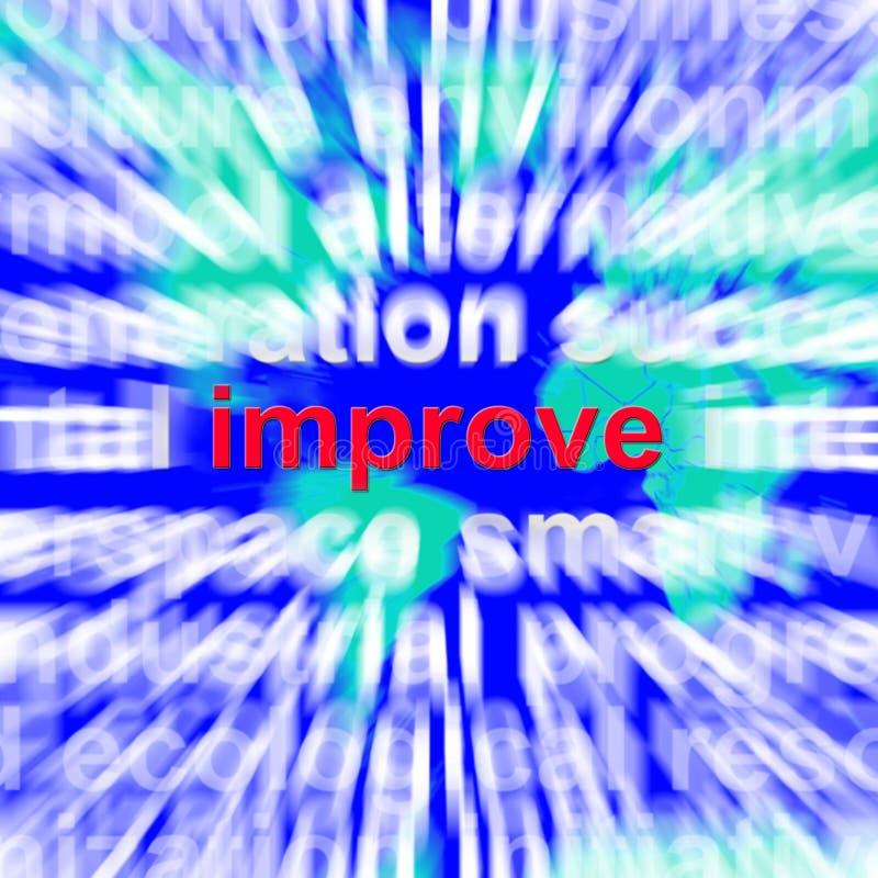 改进词改善修正更好提高的云彩手段 库存例证