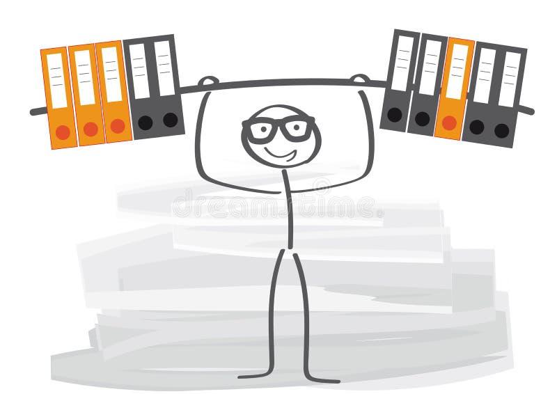 改进雇员表现 库存例证