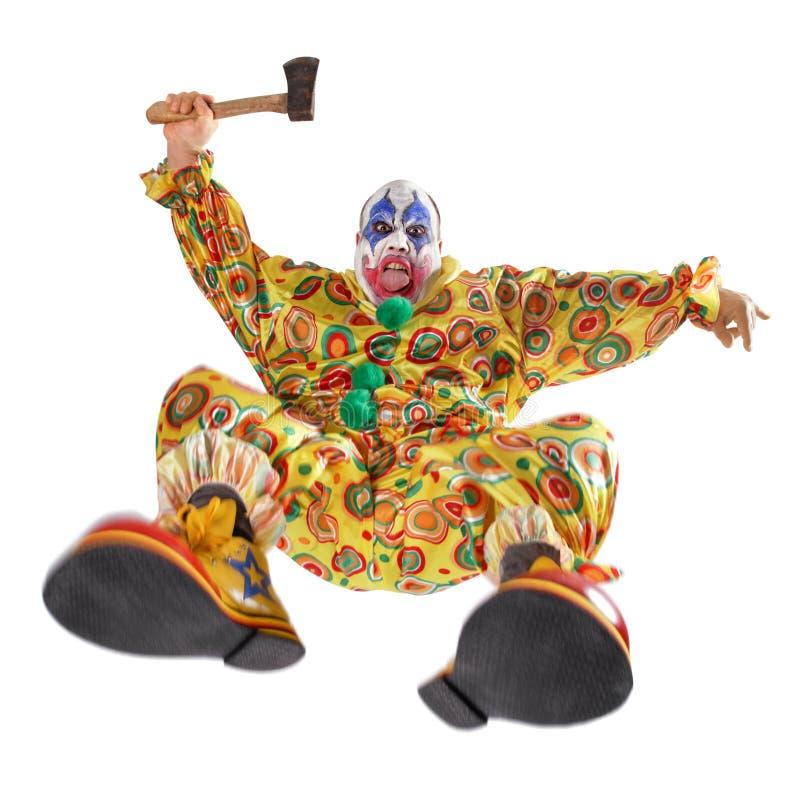 攻击小丑罪恶 免版税库存照片