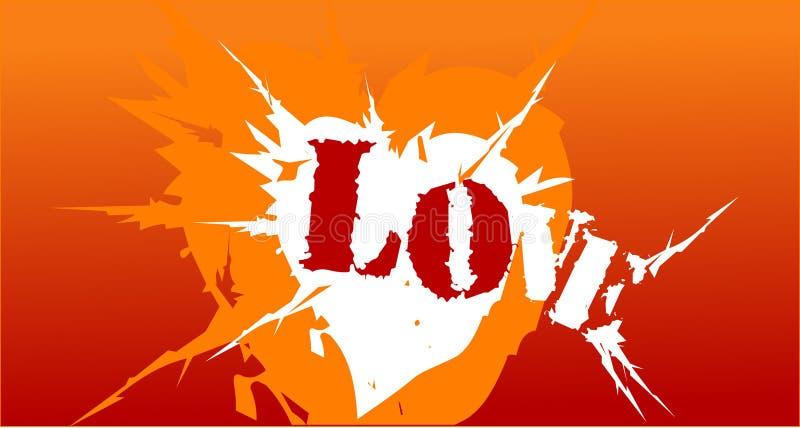 攻击重点爱 向量例证