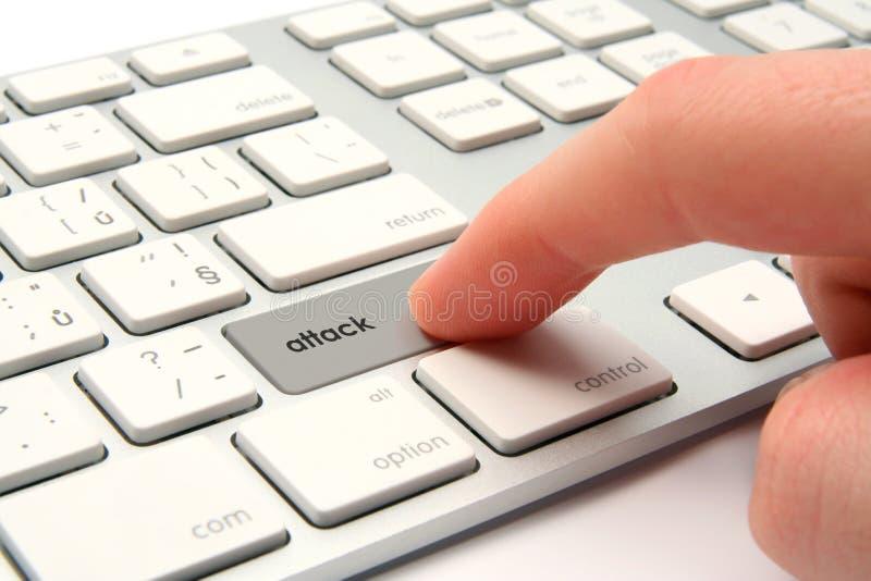 攻击cyber 库存图片