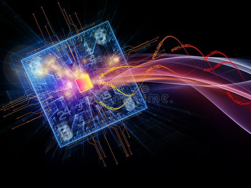 攻击cyber 向量例证