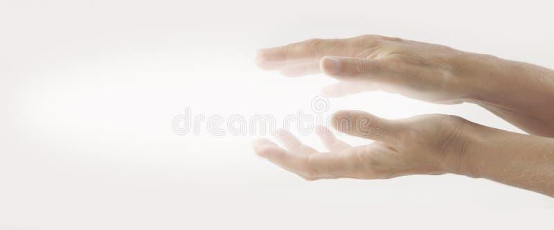 放光的Reiki医治用的能量 库存照片