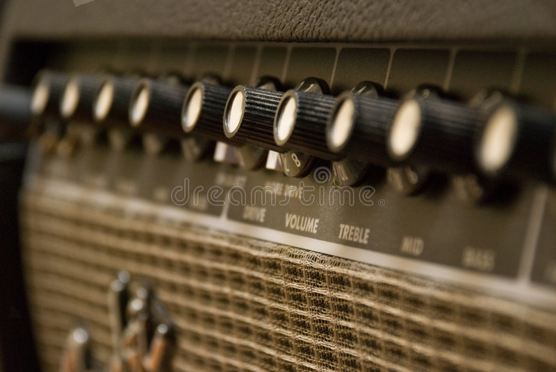 放大器吉他 免版税图库摄影