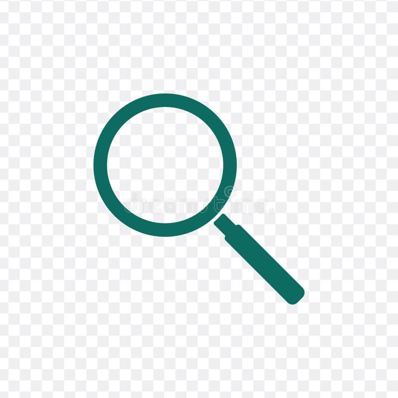 放大器象 在空白背景查出的向量例证 向量例证