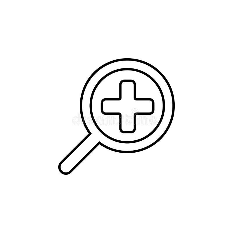 放大镜略计象 简单的象,网络设计,流动app,信息图表的元素网站的 稀薄的线象fo 向量例证