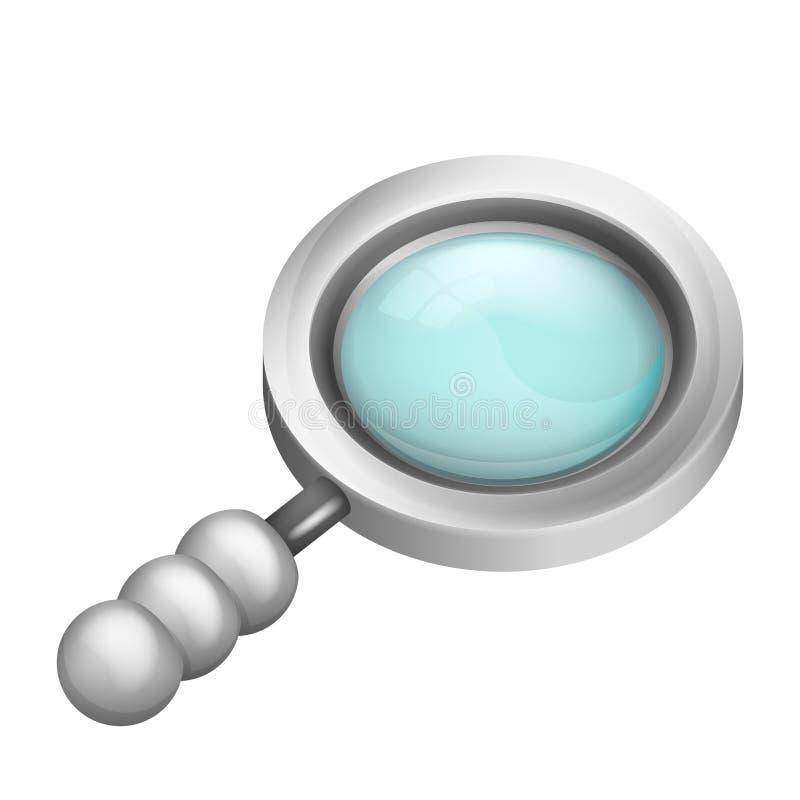 放大镜等量对象3D设计 向量例证