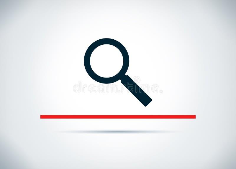放大镜象摘要平的背景设计例证 库存例证