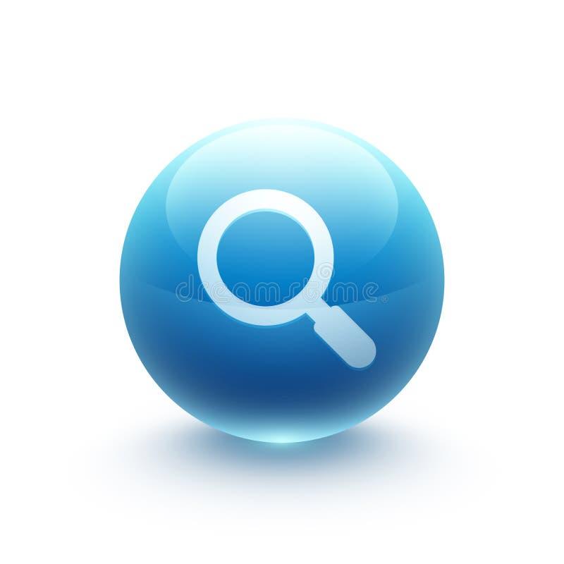 放大镜象球形 向量例证