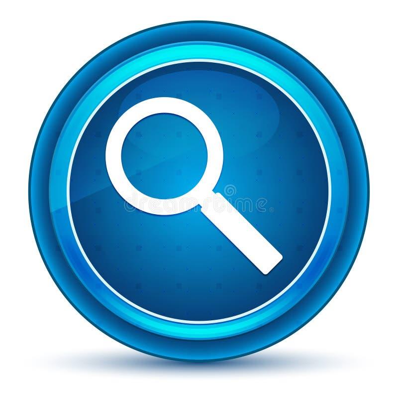 放大镜象眼珠蓝色圆的按钮 皇族释放例证