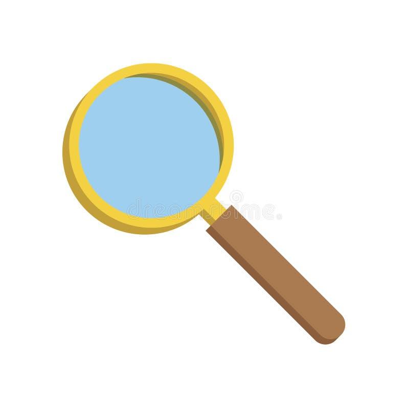 放大镜,传染媒介例证 皇族释放例证