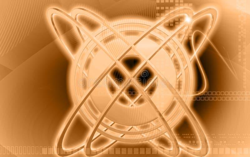 放射光芒 库存例证