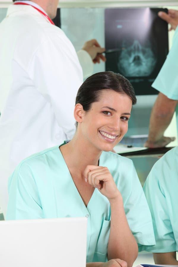 放射学单位的护士 库存图片
