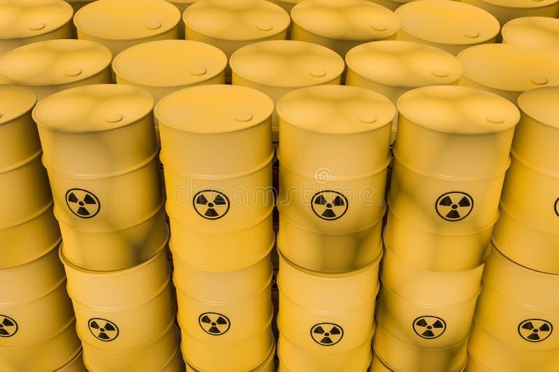 放射性废物滚磨-倾销概念的核废料 皇族释放例证