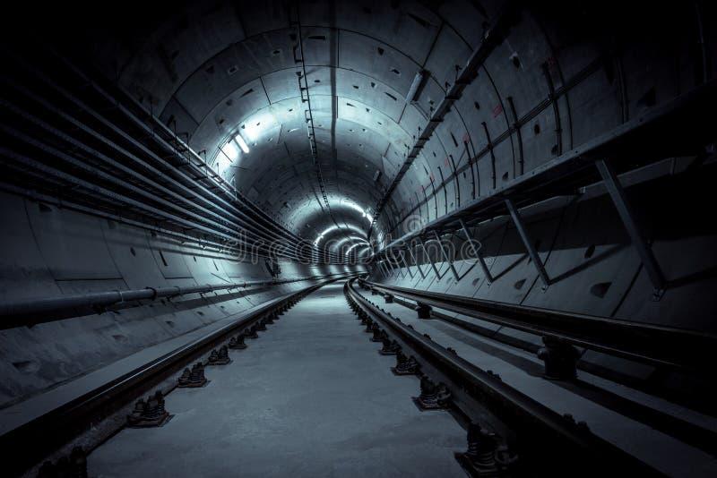 放射性微尘的地下核风雨棚 图库摄影