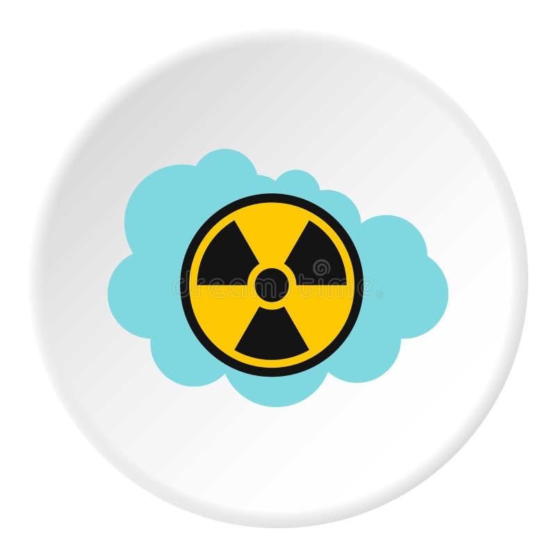 放射性空气象,平的样式 皇族释放例证