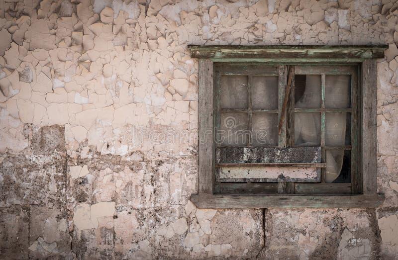 放弃在家, Humberstone鬼城,阿塔卡马沙漠,智利 免版税图库摄影
