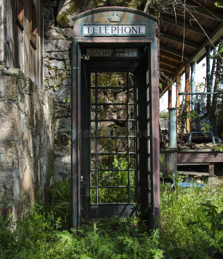 放弃摊电话 库存图片