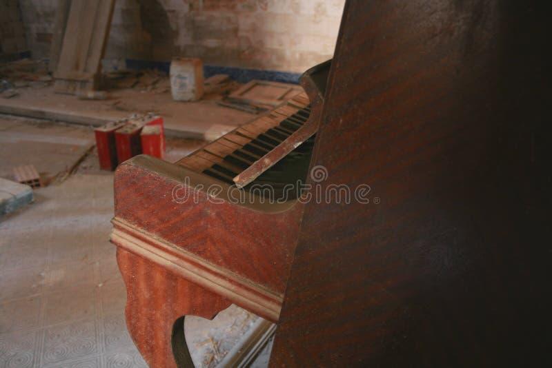 放弃钢琴  库存图片