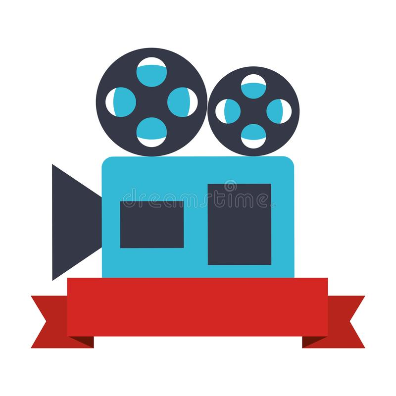 放映机照相机丝带生产影片 库存例证