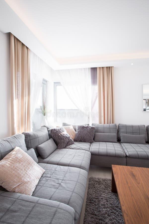 放松与沙发的空间 库存图片
