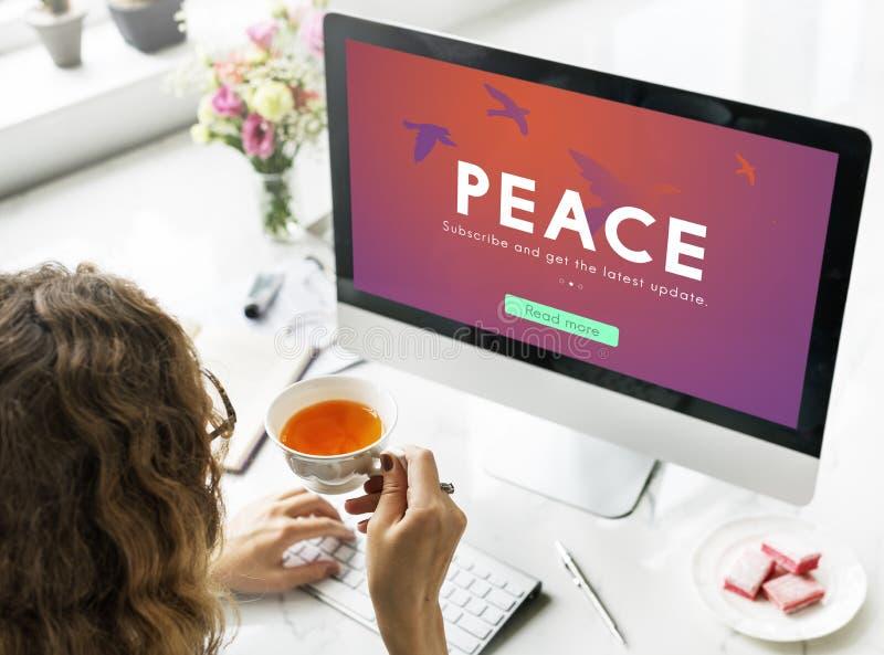 放松启发和平孑然概念 库存照片