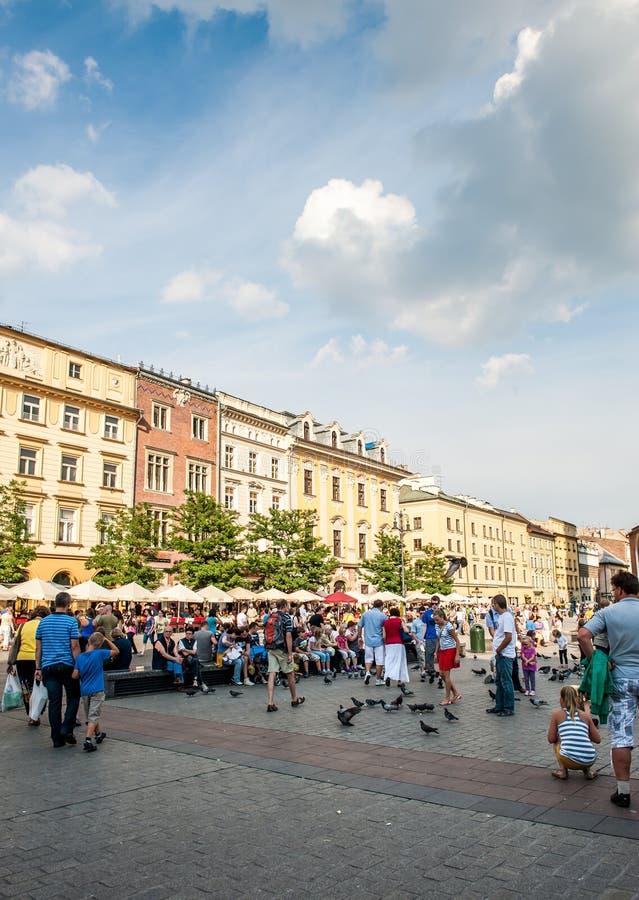 游人在克拉科夫 免版税库存照片
