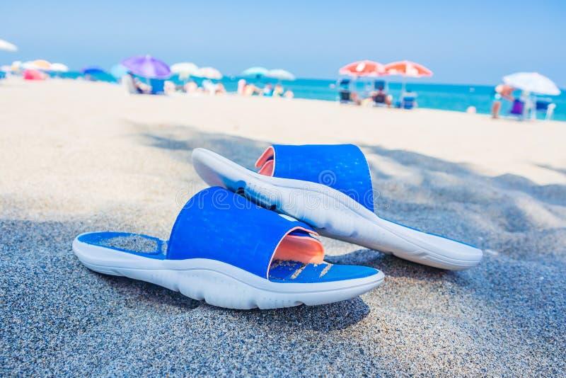 放松在西班牙海滨的时间 免版税图库摄影
