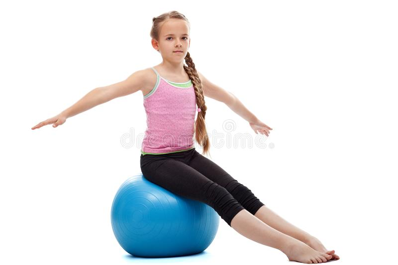 放松在锻炼以后的女孩 免版税图库摄影