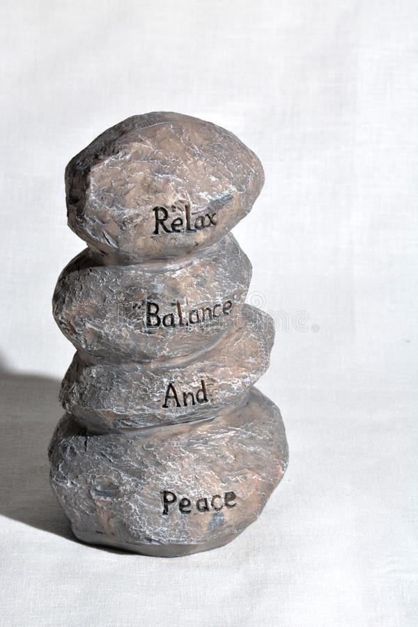 放松平衡和和平 图库摄影