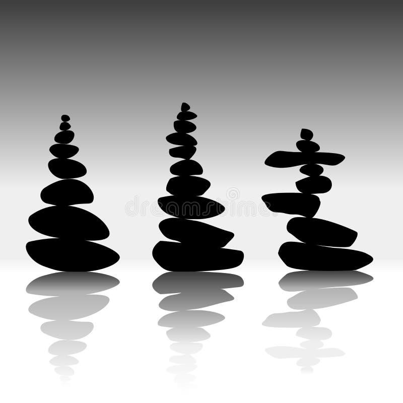 放松平衡的禅宗石头 皇族释放例证
