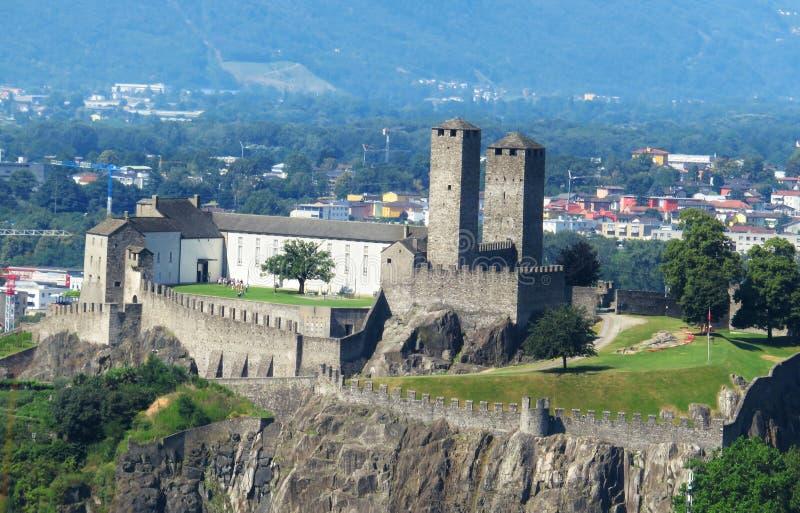 放松并且享受看法 卡莫里诺,瑞士 免版税库存图片