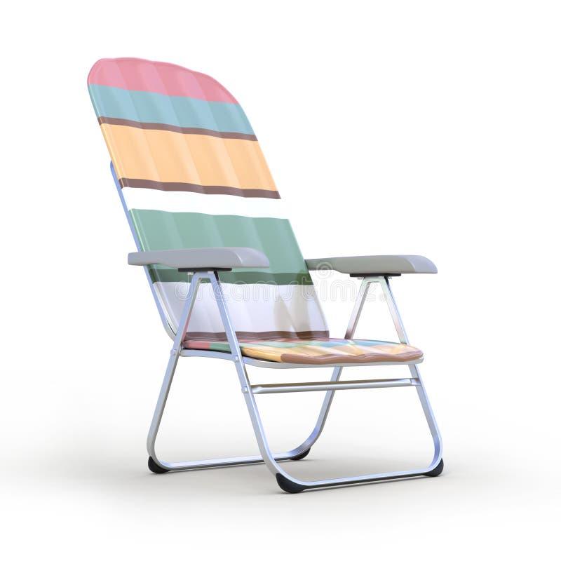 放松的椅子 库存例证