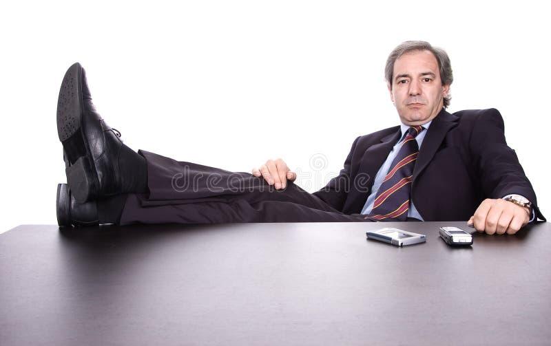 放松的生意人 免版税库存图片