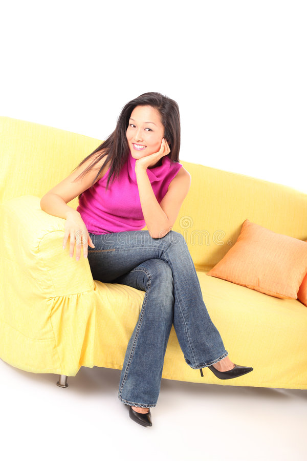 放松的长沙发 免版税库存照片