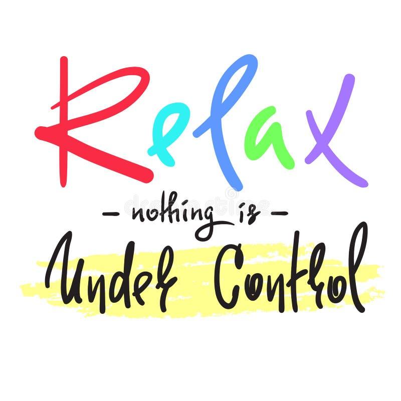放松-什么都不在控制下-简单启发和诱导行情 库存例证