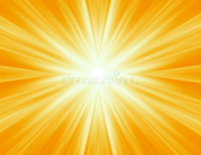 放热光芒黄色 向量例证