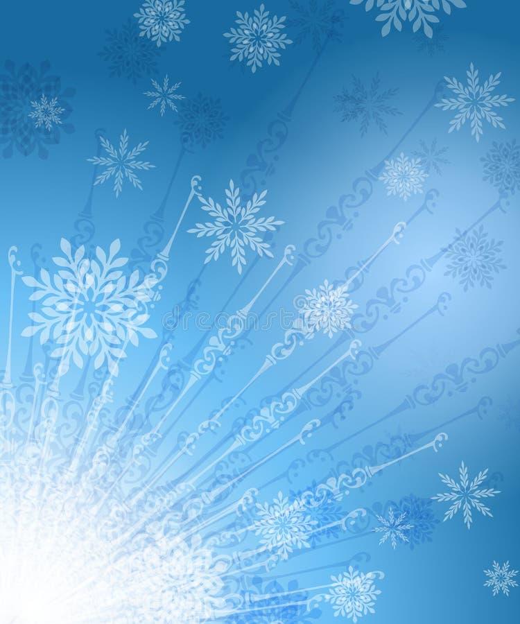 放热雪花的背景 免费库存照片