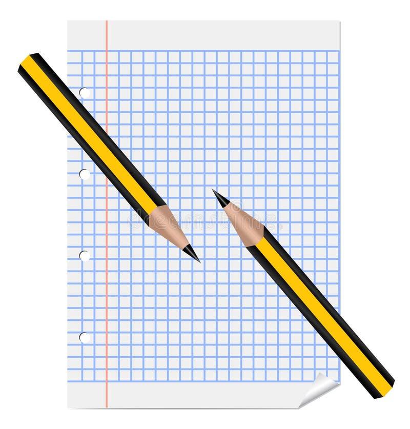 放置纸铅笔覆盖二 皇族释放例证