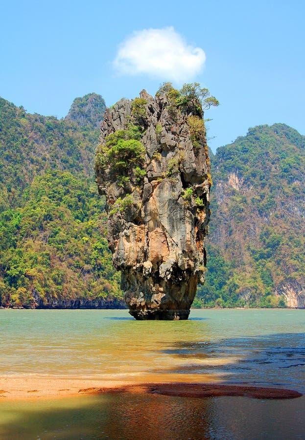 政券詹姆斯岩石泰国 免版税库存图片